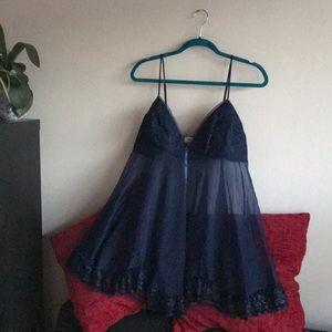 Blue Lingerie w/ Ruffles - The Collection Escanté